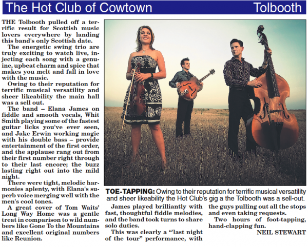 Hot Club Of Cowtown Uk Tour
